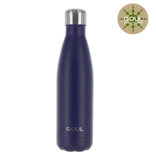 Bouteille isotherme Goul © 500ml (Bleu Marine)