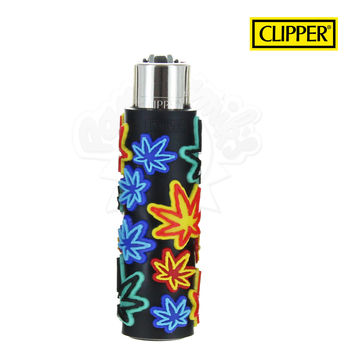 Briquet Clipper © Silicone Fluo Leaves 01