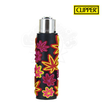 Briquet Clipper © Silicone Fluo Leaves 02