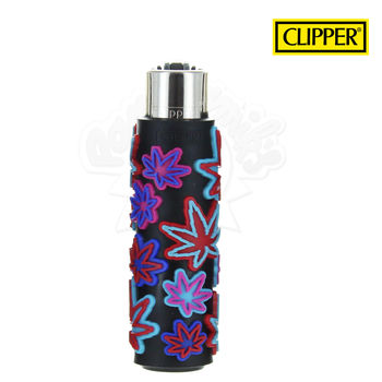 Briquet Clipper © Silicone Fluo Leaves 03