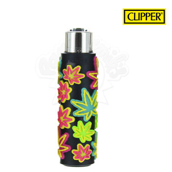 Briquet Clipper © Silicone Fluo Leaves 05