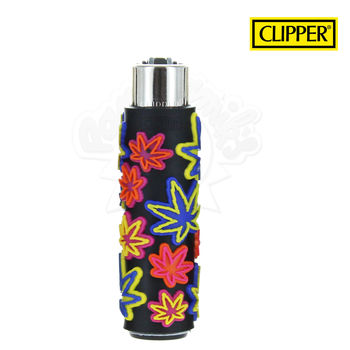 Briquet Clipper © Silicone Fluo Leaves 06