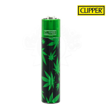 Briquet Clipper © Métal Green Leaves (Vert)
