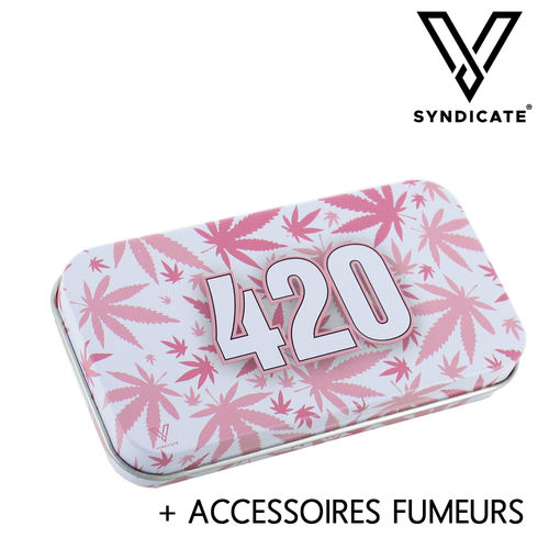 Tin Box Syndicase © 420 Pink + Accessoires