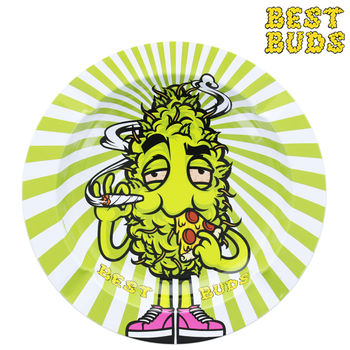 Cendrier rond en métal Best Buds © High Pizza