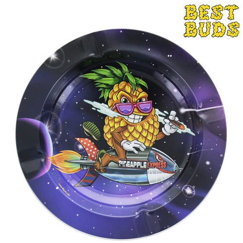 Cendrier rond en métal Best Buds © Superhigh Pineapple Express