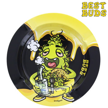 Cendrier rond en métal Best Buds © Dab-All-Day