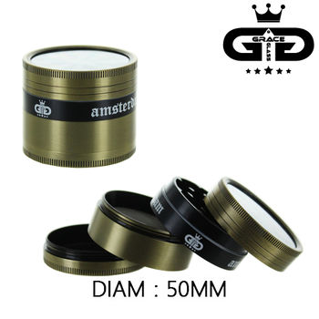 Grinder Alu Grace Glass © Amsterdam (Gold)