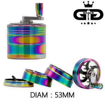 Grinder Alu Grace Glass © Moulin (Rainbow)