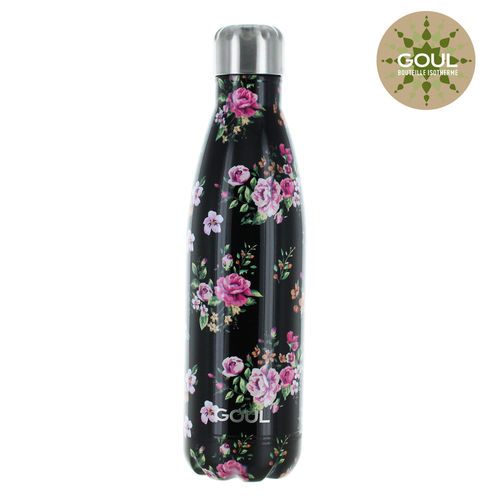 Bouteille isotherme Goul © 500ml (Black Flowers)