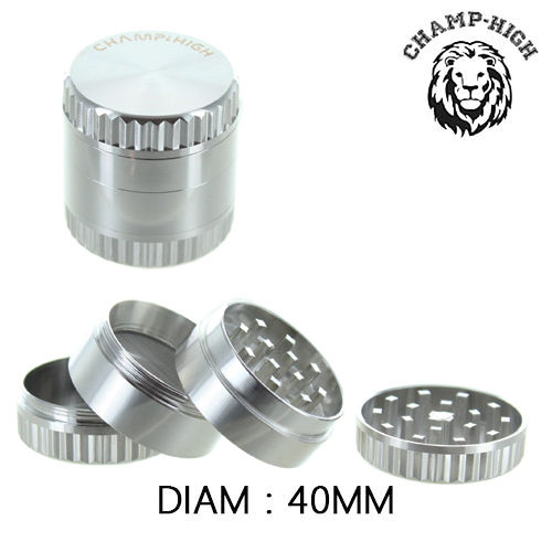 Grinder Alu Champ High © Fluted Bezel (Silver)