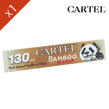 "Carnet de feuille Slim Bamboo Cartel © Extra Long 130mm ""Panda 01"""