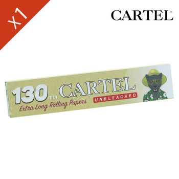 "Carnet de feuille Slim Brown Cartel © Extra Long 130mm ""Chat"""