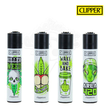 Lot de 4 Briquets Clipper © Green Slogan