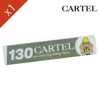 "Carnet de feuille Slim Blanc Cartel © Extra Long 130mm ""Chien"""