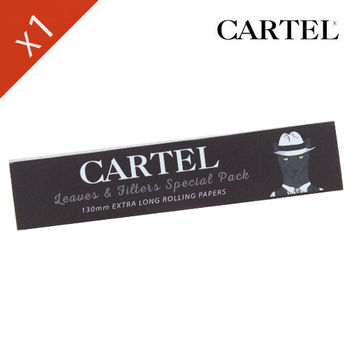 "Carnet de feuille Slim Blanc Cartel © Extra Long 130mm ""Chat"""