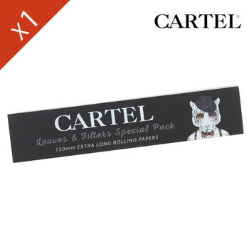 "Carnet de feuille Slim Blanc Cartel © Extra Long 130mm ""Tigre"""