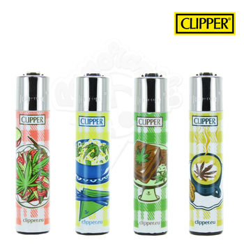 Lot de 4 Briquets Clipper © Food Leaves