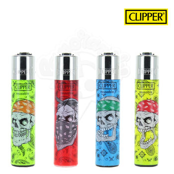 Lot de 4 Briquets Clipper © Danger Skulls