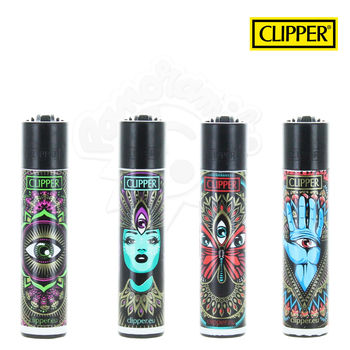 Lot de 4 Briquets Clipper © Trippy 3rd Eye