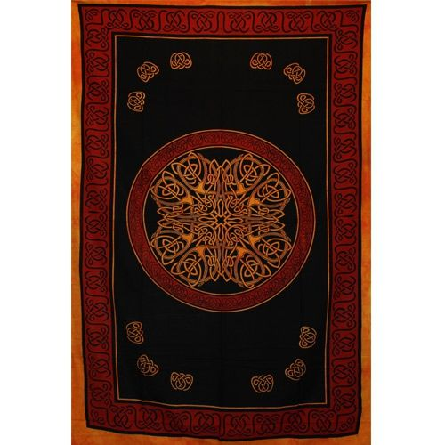 Tenture Mandala Multi (Orange)