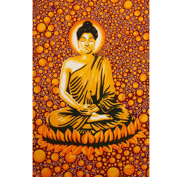 Tenture Bouddha Multi (Orange)