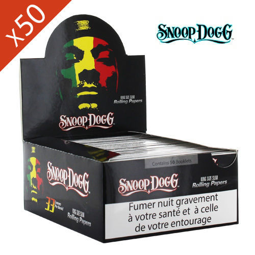 Boite de Grande Feuille à Rouler Snoop Dogg © Slim King Size
