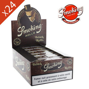 Boite de 24 Rouleaux de feuille Smoking © Brown Naturel