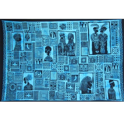 Tenture Patchwork Africaine (Turquoise)