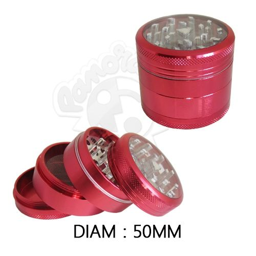 "Grinder Alu ""Clearview"" (Rouge)"