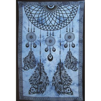 Tenture Dream Catcher (Bleu)