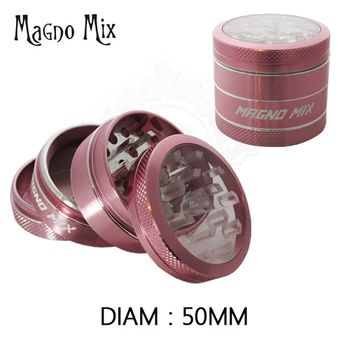 "Grinder Alu MagnoMix ""Window"" (Rose)"