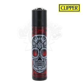 Briquet Clipper © Leaf Mexican Skull (Rouge)