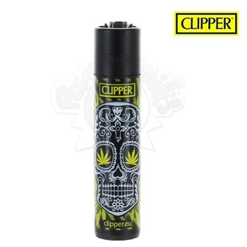 Briquet Clipper © Leaf Mexican Skull (Jaune)