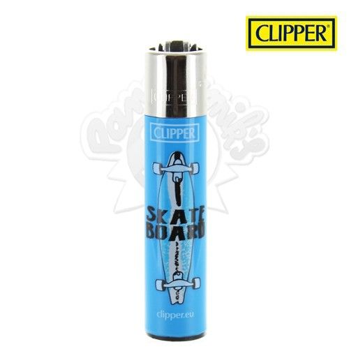 Briquet Clipper © SkateBoard (Bleu)