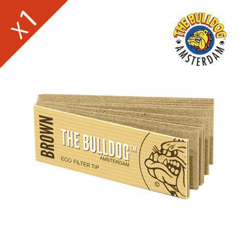 Carnet de filtre en carton The Bulldog (papier marron)