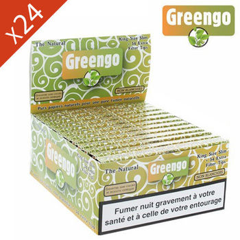 Boite de Grande Feuille à Rouler Greengo © King Size Slim + Tips