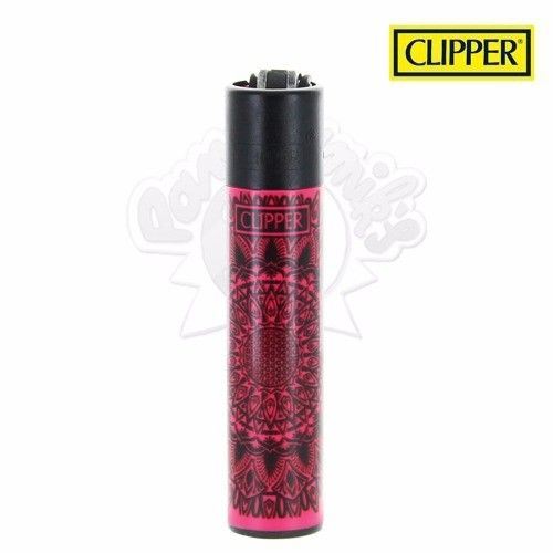 Briquet Clipper © Mandala Color (Rouge)