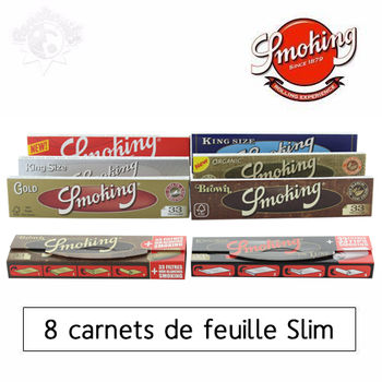 Pack Fumeur Feuille Slim Smoking