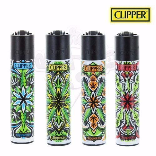 Lot de 4 Briquets Clipper © Mandala Leafs