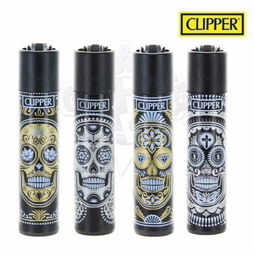 Lot de 4 Briquets Clipper © Tribez Skulls