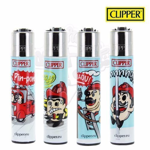 Lot de 4 Briquets Clipper © Pompiers