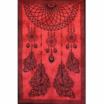 Tenture Dream Catcher (Rouge)