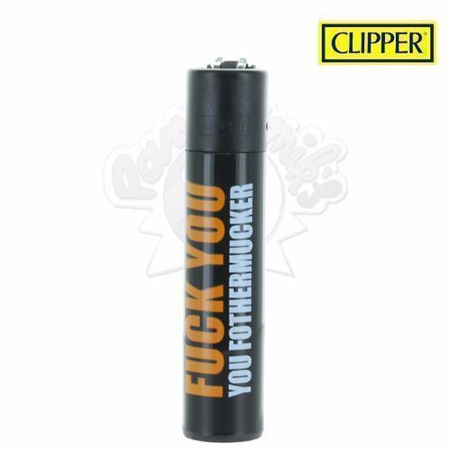 Briquet Clipper © Fuck You (Orange)