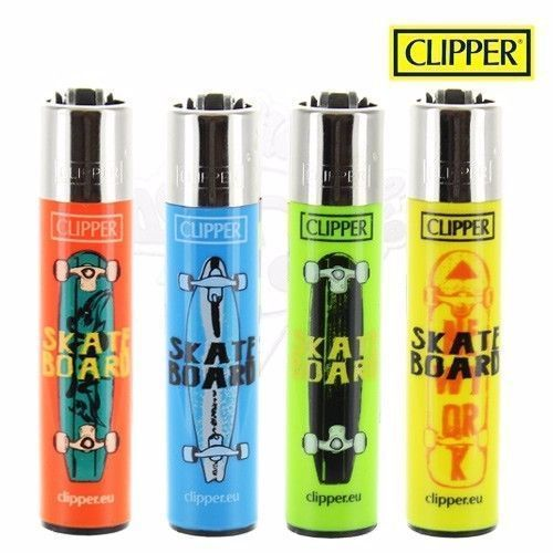 Lot de 4 Briquets Clipper © Skateboard