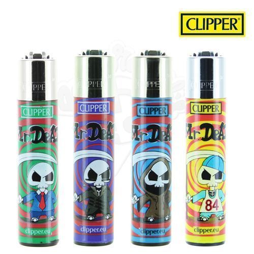 Lot de 4 Briquets Clipper © Mister Dead
