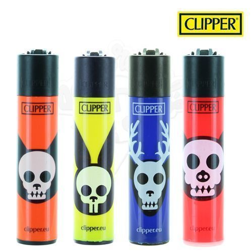 Lot de 4 Briquets Clipper © Animals Skulls