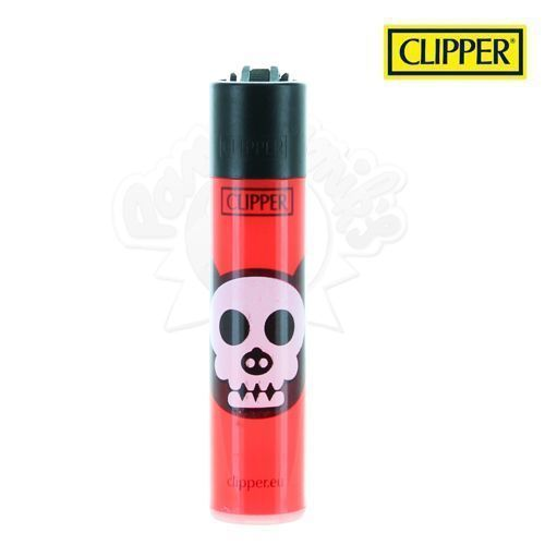 Briquet Clipper © Animal Skull (Rouge)