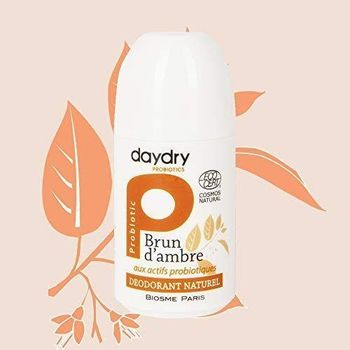 Daydry déodorant Ecocert roll on brun d'ambre 50ml