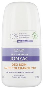 Jonzac Déodorant soin haute tolérance anti traces 24h Roll on bio 50ml